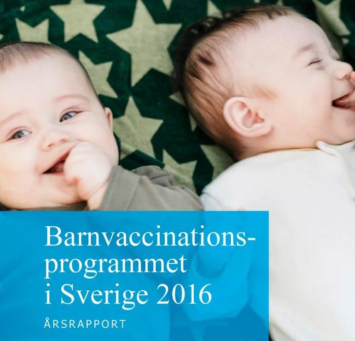 Nästan alla barn vaccineras i Sverige
