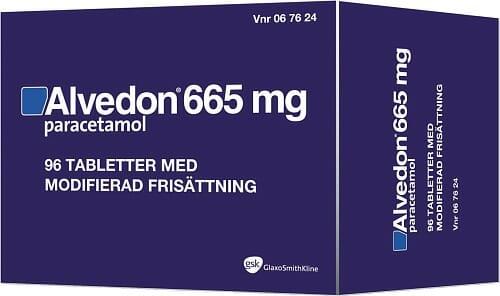 Alvedon 665 mg bör